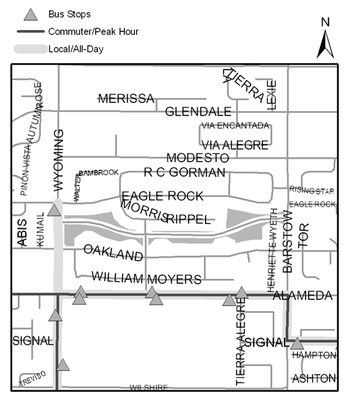 Map of Noreste Park Trail
