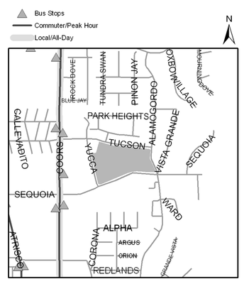 Map of Redlands Park