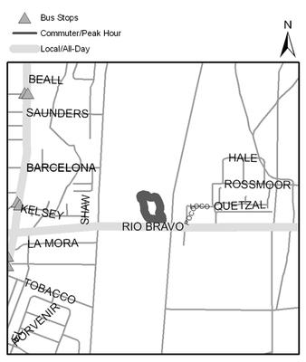 Map of Rio Bravo Open Space