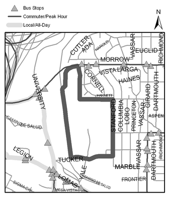 Map of UNM Golf Course