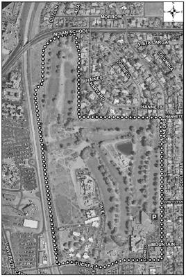 UNM Golf Course Satellite Image