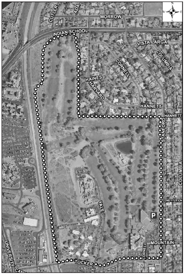 UNM Golf Course Satellite Image