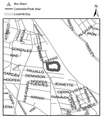 Map of Valle del Bosque Park
