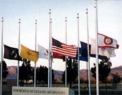 NMVetsMemorial-FlagsatHalf-Staff.jpg