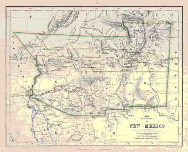 Territorial New Mexico Map