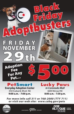 Animal Welfare Department Black Friday Adoptbusters