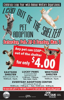 Celebrate Leap Year with Animal Welfare Department!