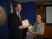 Mayor & Eagle Scout