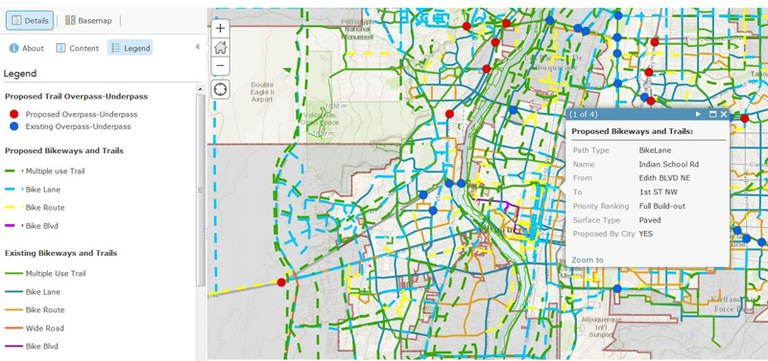 Bike and Trails Interactive Map