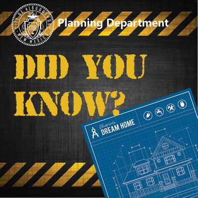 Graphic for the Did You Know? educational series for the Planning Department.