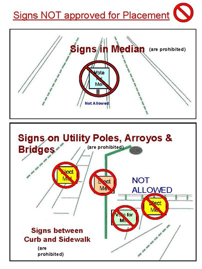 Illegal Sign Graphic