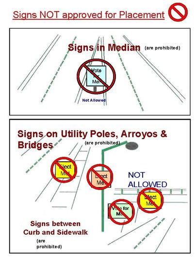 Illegal Sign Graphic