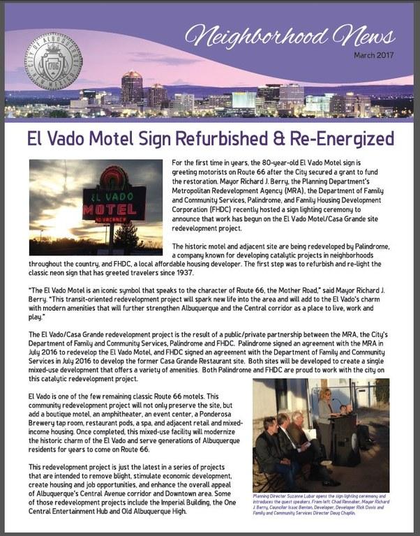 Neighborhood News March 2017