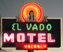 El Vado Neon Sign at Night