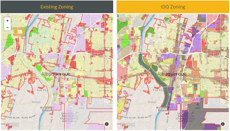 IDO Zoning Conversion Map