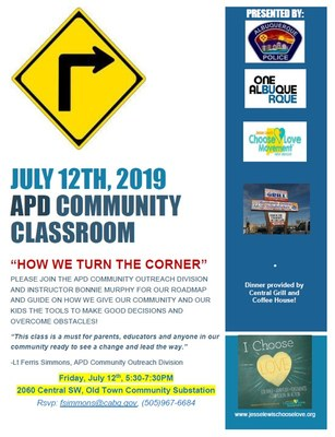 APD Community Classroom: How We Turn the Corner