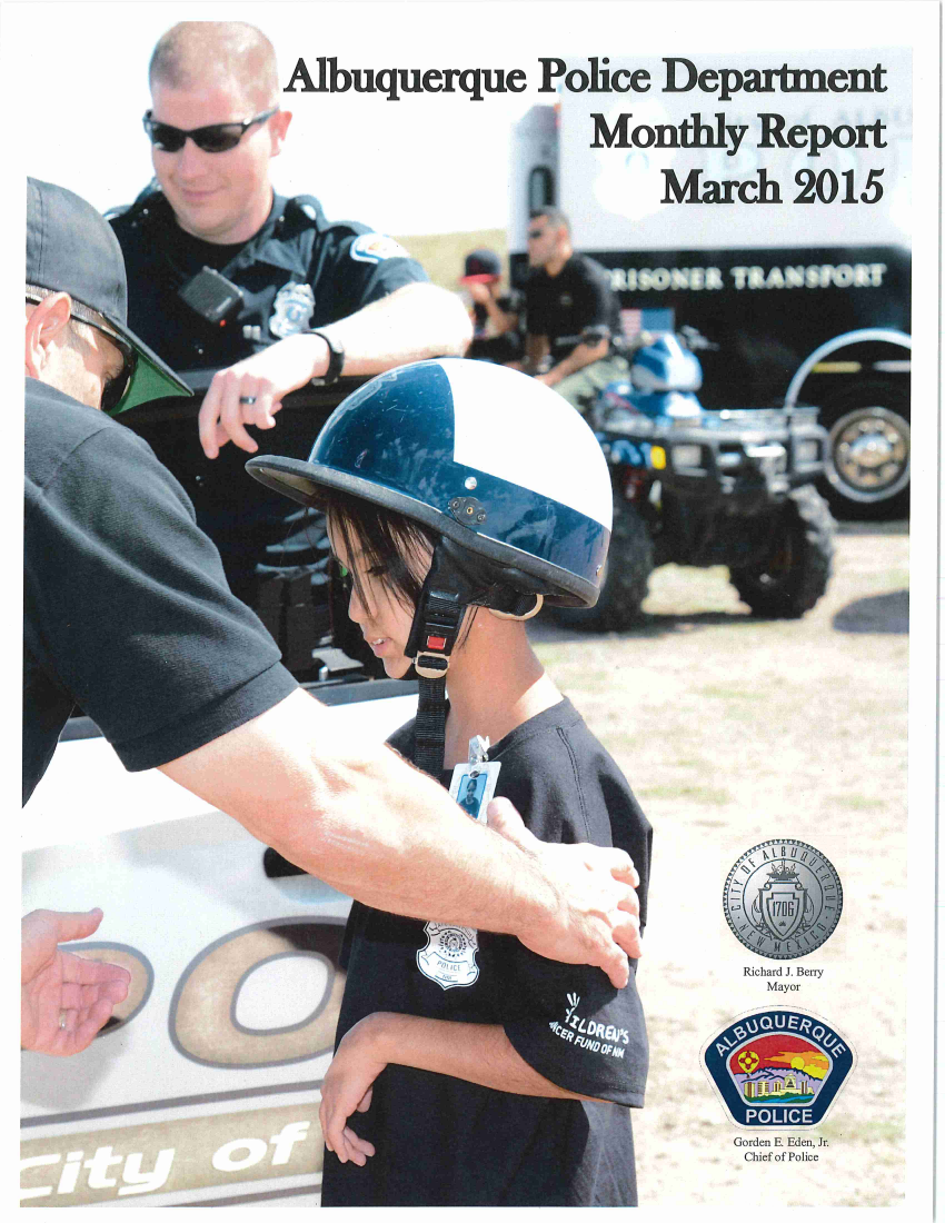 2015 March - Police Monthly Report Cover
