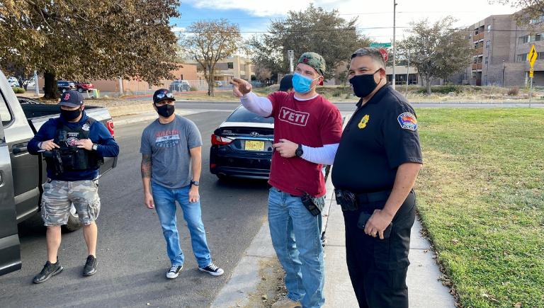 Chief Medina with Auto Theft Detectives