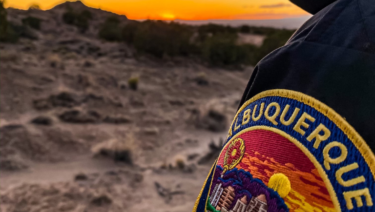 APD patch with sunset background
