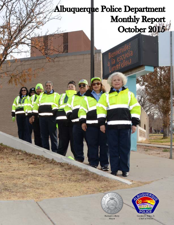 Albuquerque Police Department Monthly Report: October 2015 - Cover