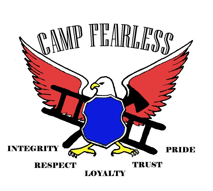 Logo of Camp Fearless.