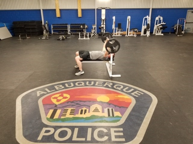 APD Officer Lifting Weights