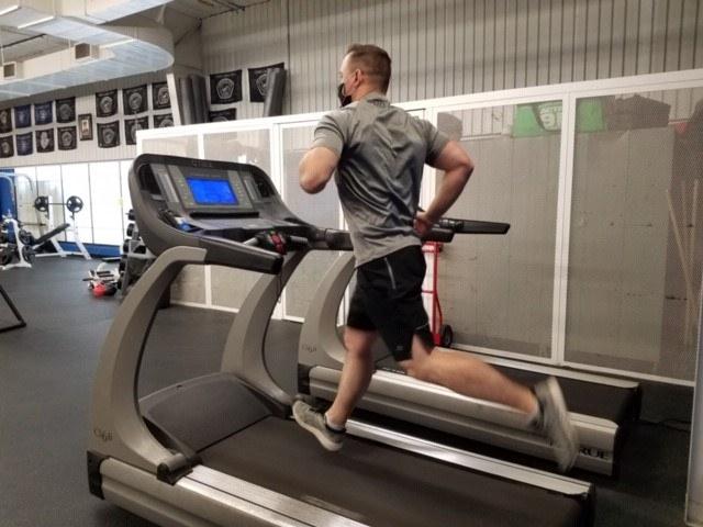 APD Officer Running on Treadmill