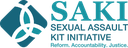 A jpeg of SAKI Sexual Assault Kit Initiative logo.