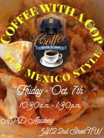 APD Hosts Coffee with a Cop with New Mexico Twist