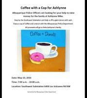 Coffee with a Cop to Support Family of Murdered Shiprock Girl