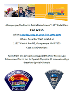 Police Cadets Raising Money for Special Olympics