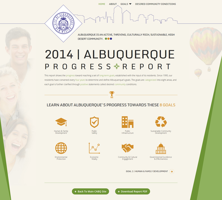 2014 Albuquerque Progress Report Cover
