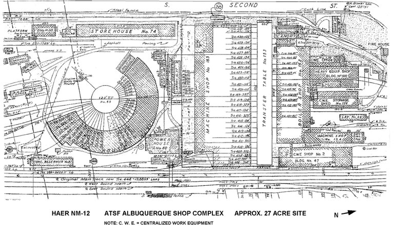 ATSF Albuquerque Shop Complex Site Plan