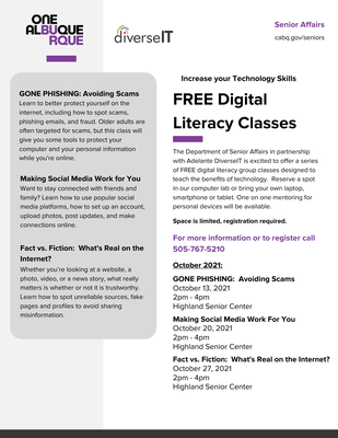 FREE Digital Literacy Series-Fact vs. Fiction:  What's Real on the Internet?
