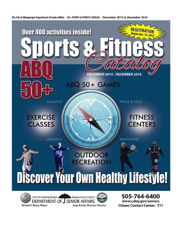 50 Plus Sports and Fitness Catalog 12-2015 - 12-2016 Cover
