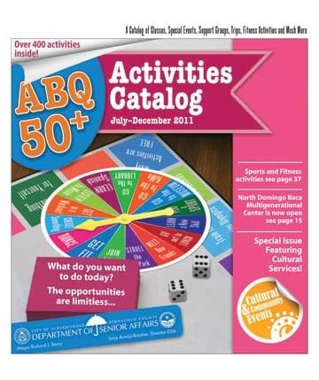 ABQ 50-Plus Activities Catalog Jul-Dec 2011 Cover