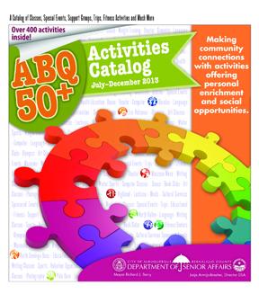 ABQ 50-Plus Activities Catalog Jul-Dec 2013 Cover