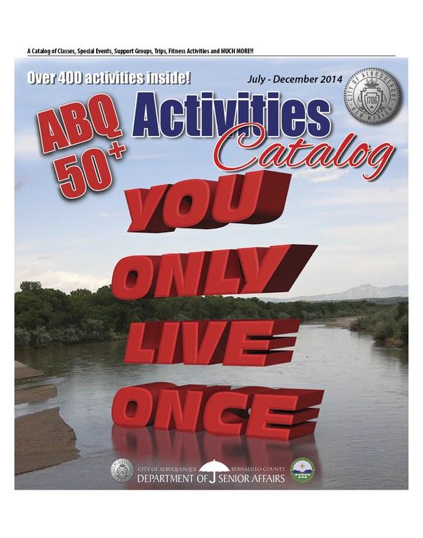 ABQ 50-Plus Activities Catalog Jul-Dec 2014 Cover