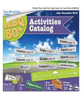 ABQ 50-Plus Activities Catalog Jul-Dec 2010 Cover