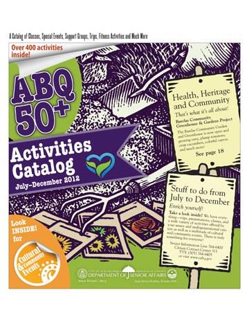 ABQ 50-Plus Activities Catalog Cover