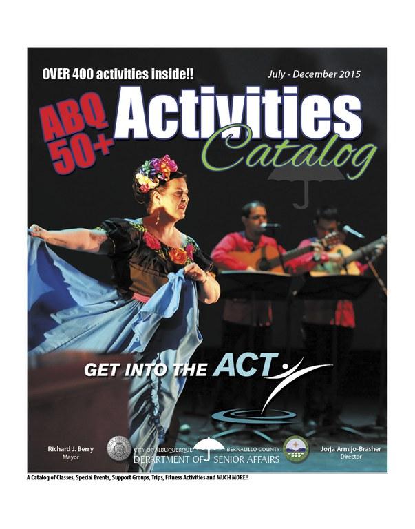 ABQ 50-Plus Activities Catalog Jul-Dec 2015 Cover