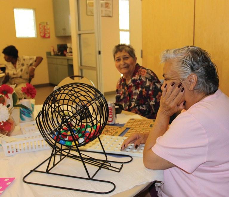 Two Women playing Bingo