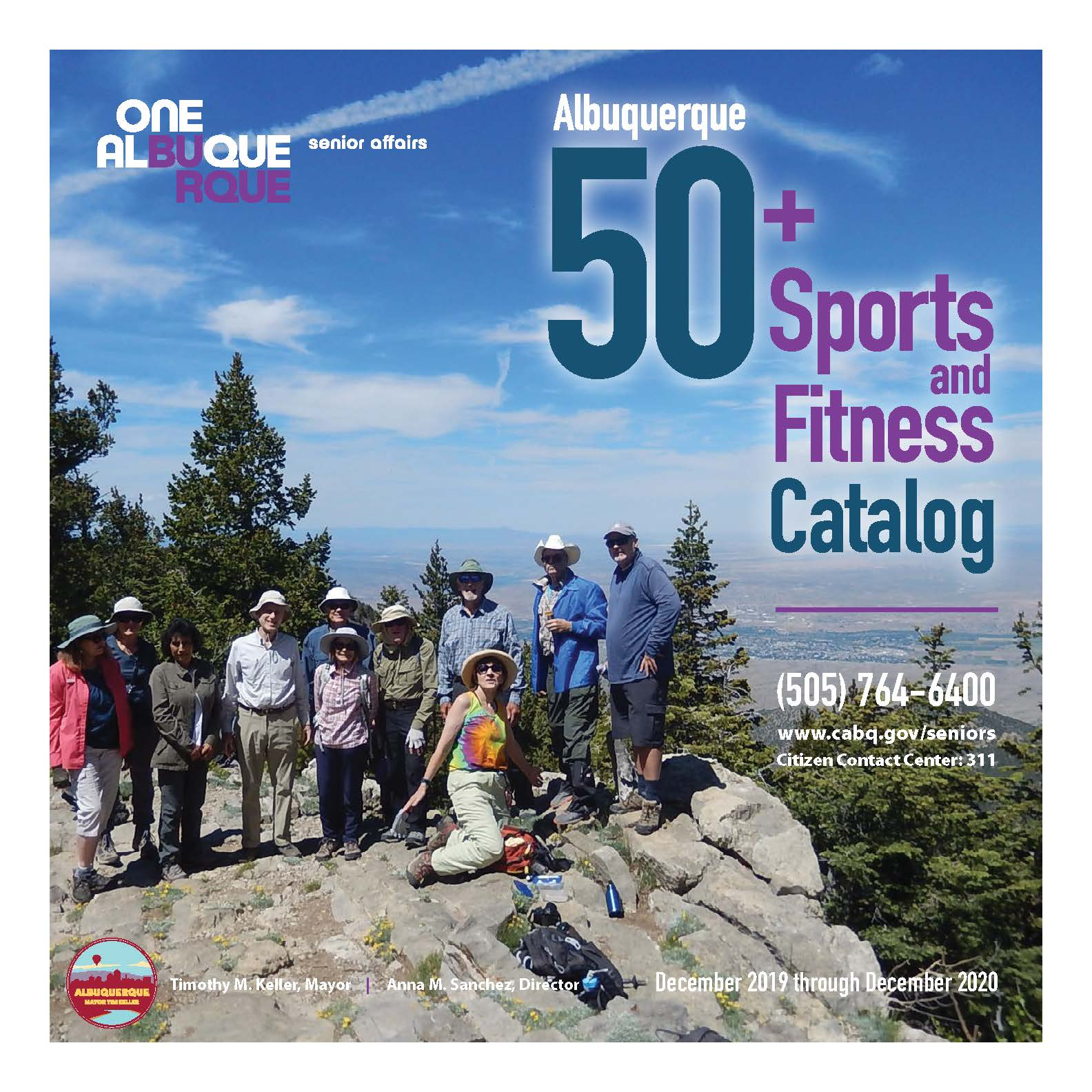 The cover of the 50 Plus Sports Fitness Catalog Dec. 2018-Dec. 2019
