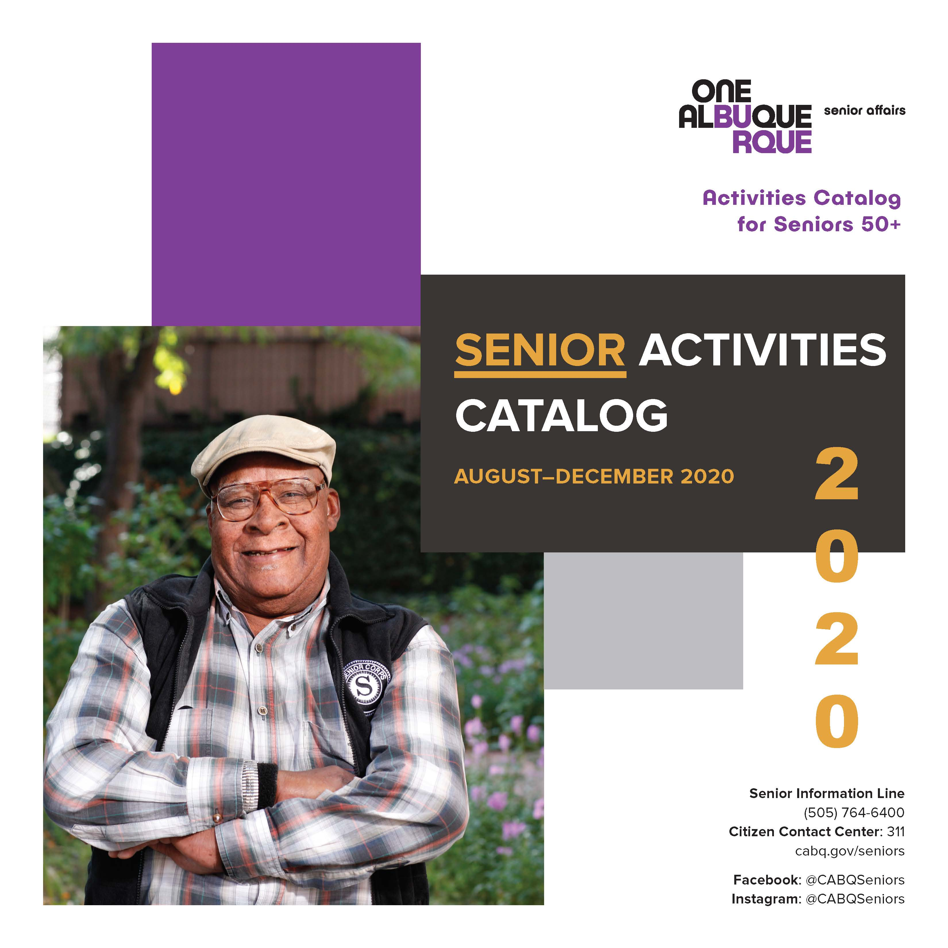 The cover of the 2019 July to December Department of Senior Affairs Activities Catalog.
