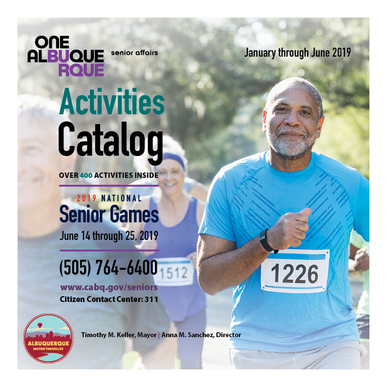The cover of the 2019 Department of Senior Affairs Activities Catalog.