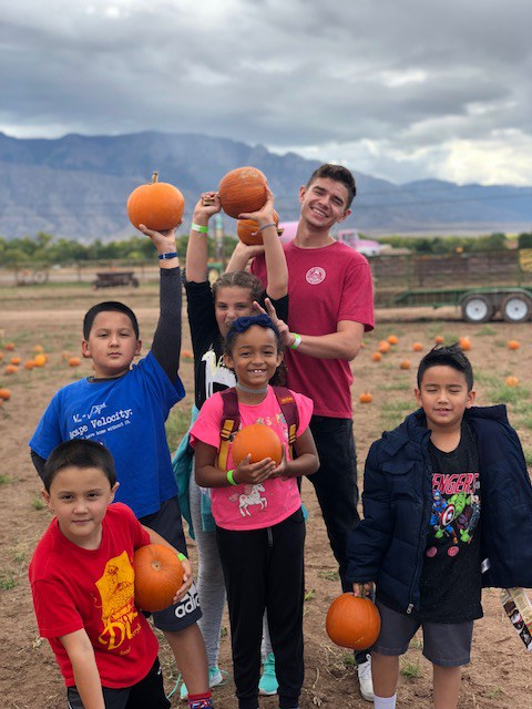 Youth at Pumpkin Patch