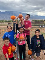 JPG of Youth in DSA Program at pumpkin patch