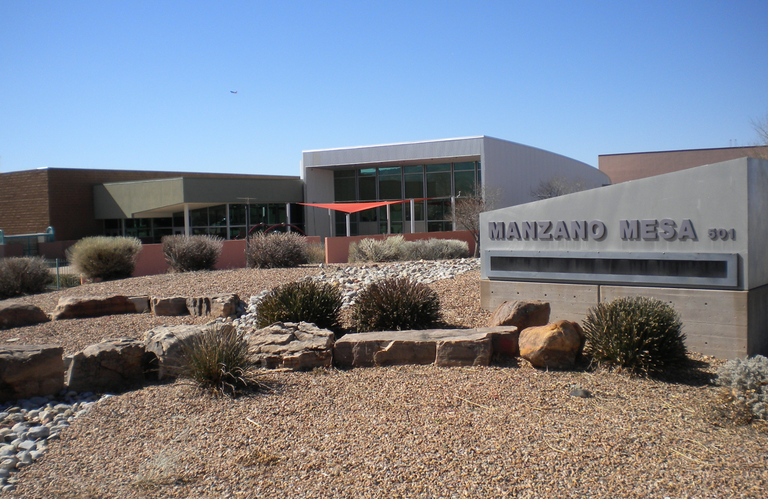 Front of Manzano Mesa Senior Center