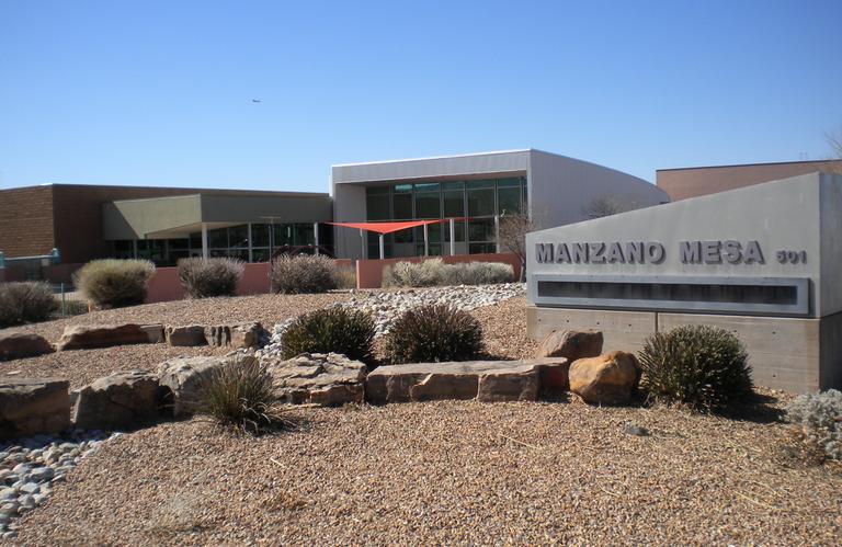 Front of Manzano Mesa Senior Center