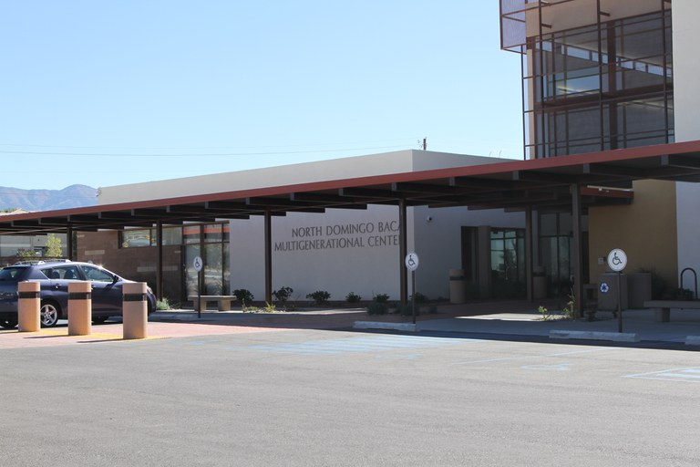 North Domingo Baca Multigenerational Center Front View